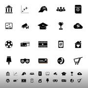 general online icons on white background - stock illustration