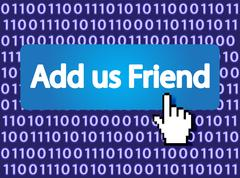 Add us Friend - stock illustration