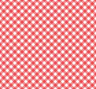 Gingham Pattern in Red and White - stock illustration