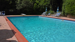 Italy, Tuscany, swimming pool in agriturismo hotel. Stock Footage