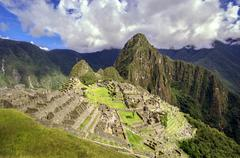 inca city machu picchu (peru) - stock photo