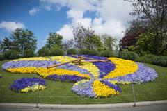 Floral clock Geneva - stock photo