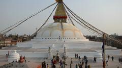 Stock Video Footage of Boudhnath Stupa, Kathmandu, Nepal
