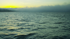 Sea fog sunset weather phenomenon San Francisco California, USA Stock Footage