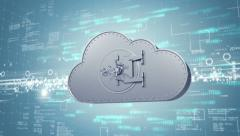 Secure cloud computing concept (1080p) - stock footage
