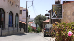 Quiet street in the town of Polis in Cyprus Stock Footage