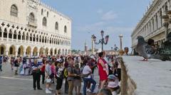 Venezia Piazza San Marco timelpse Stock Footage