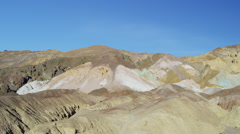 Motion Death Valley desert Artists Point National Park climate, California, USA - stock footage
