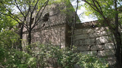 Unrestored section of the great wall of china beijing jiankou Stock Footage