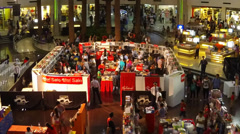 Book fair timelapse Stock Footage