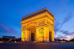 Arc of triomphe paris Stock Photos