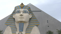 Luxor Hotel Las Vegas 4K Stock Footage