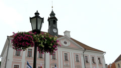 A view of the old town hall from tartu estonia gh4 4k Stock Footage