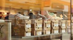 Footwear for Sale Stock Footage