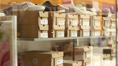 Stock Video Footage of Shoe Store
