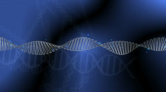 Dna Genetic Revolving Strand on a Blue Background Stock Footage
