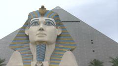 Luxor Hotel and Casino Las Vegas Stock Footage