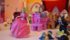 Toys games from kindergarden Stock Footage