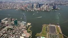 New York City Aerial, Manhattan, Buildings Stock Footage