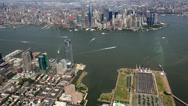Stock Video Footage of New York City Aerial, Manhattan, Buildings