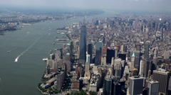 New York City Aerial, Manhattan, Buildings - stock footage