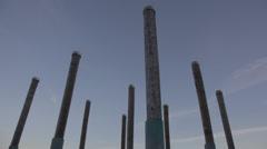 WoodPoles - Westminster Pier Park Stock Footage