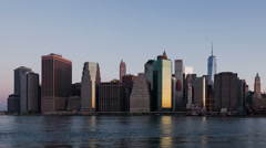 4k Sunrise timelapse Manhattanin siluetti new york - USA Arkistovideo