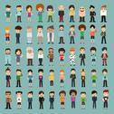 Stock Illustration of group cartoon people