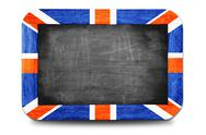 Stock Illustration of england flag soccer 2014 framed of small chalkboard