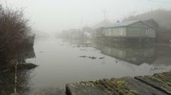 Finn Slough Morning Fog Stock Footage
