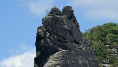 4K UHD free climbing mountain rock time lapse 11361 Stock Footage
