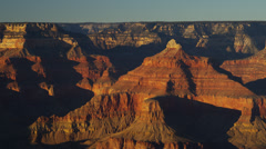 Grand Canyon National Park sunrise layers of rock, Arizona, USA - stock footage