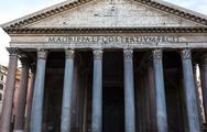 Low angle view of pantheon, pantheon rome, rome, rome province, lazio, italy Stock Photos