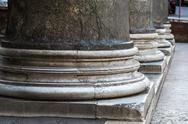 Close-up of base of columns, pantheon rome, rome, rome province, lazio, italy Stock Photos