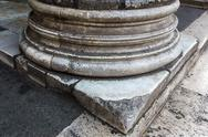 Close-up of base of a column, pantheon rome, rome, rome province, lazio, ital Stock Photos