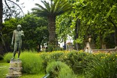 Stock Photo of statue in a garden, villa cimbrone, ravello, province of salerno, campania, i
