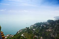sea view from villa cimbrone, ravello, province of salerno, campania, italy - stock photo