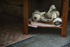 Stock Photo of close-up of a toy scooter for sale, amalfi, province of salerno, campania, it