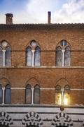Facade of a heritage building, siena, siena province, tuscany, italy Stock Photos