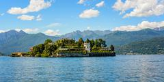 Island bella maggiore lake Stock Photos