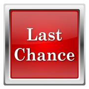 last chance icon - stock illustration