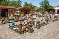 Stock Photo of flea market, ruegenhof at kap arkona