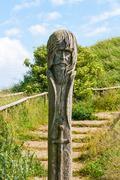 Stock Photo of slav sculpture at kap arkona, ruegen