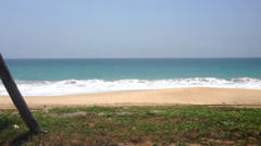 View of Colombo seaside from a moving van. Stock Footage
