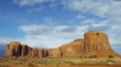 Time lapse Monument Valley cloudscape Buttes Colorado Plateau, Arizona, USA Stock Footage
