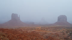 Time lapse Monument Valley Sandstone Buttes Mittens, Arizona, USA - stock footage