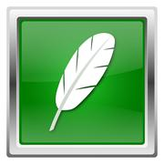 Feather icon Stock Illustration