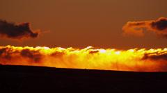 Sunrise motion cloudscape desert landscape orange colour, USA, RED EPIC Stock Footage