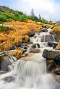 Nice waterfall in carpathians Stock Photos