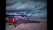 Crane lifting the sand Stock Footage
